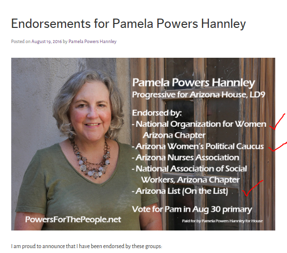 powers endorsements